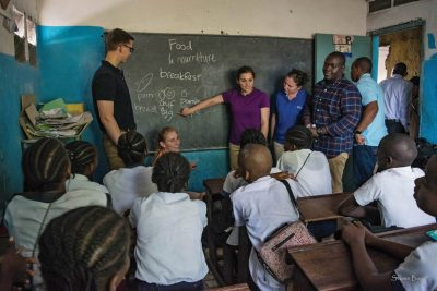 Cadet Amanda Quinn '18 taught English to Congolese students as a part of her CULP mission