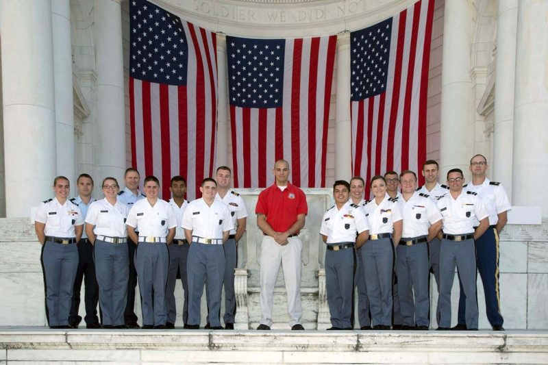 Air Force and Army cadets spend time at the American Veterans Conference in Washington, D.C.