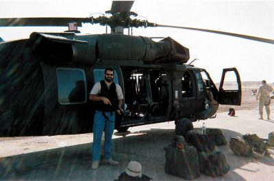 Taylor Jones at Balad Air Base, Iraq, 2005