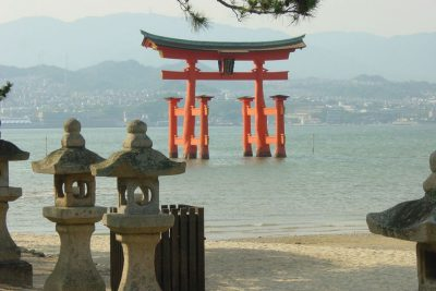 Itsukushima Shrine on Miyajima Island outside of Hiroshima.
