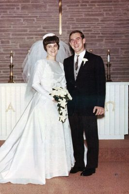 Mike and Janey Swain's wedding day, Dec. 18, 1965