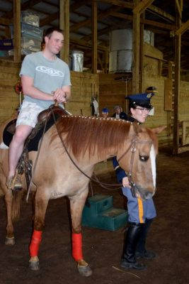 Pony rides were popular at the presentation with Cadet Fallon Fulgenzi and Sunny the horse.