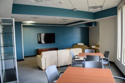 Study lounges are found on every floor of New Cadet Hall.