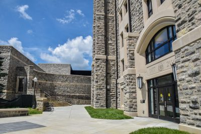 New Cadet Hall is steps away from Torgersen Hall.