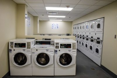 The laundry room of New Cadet Hall.