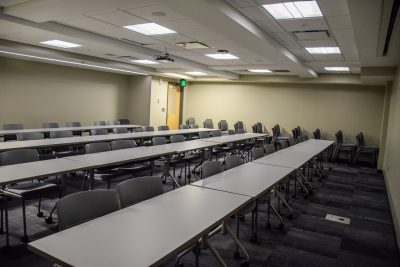 The Company Meeting Room of New Cadet Hall.