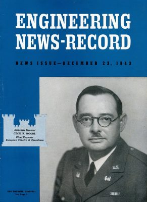 Maj. Gen. Cecil R. Moore appears on the cover of the Engineering News-Record.