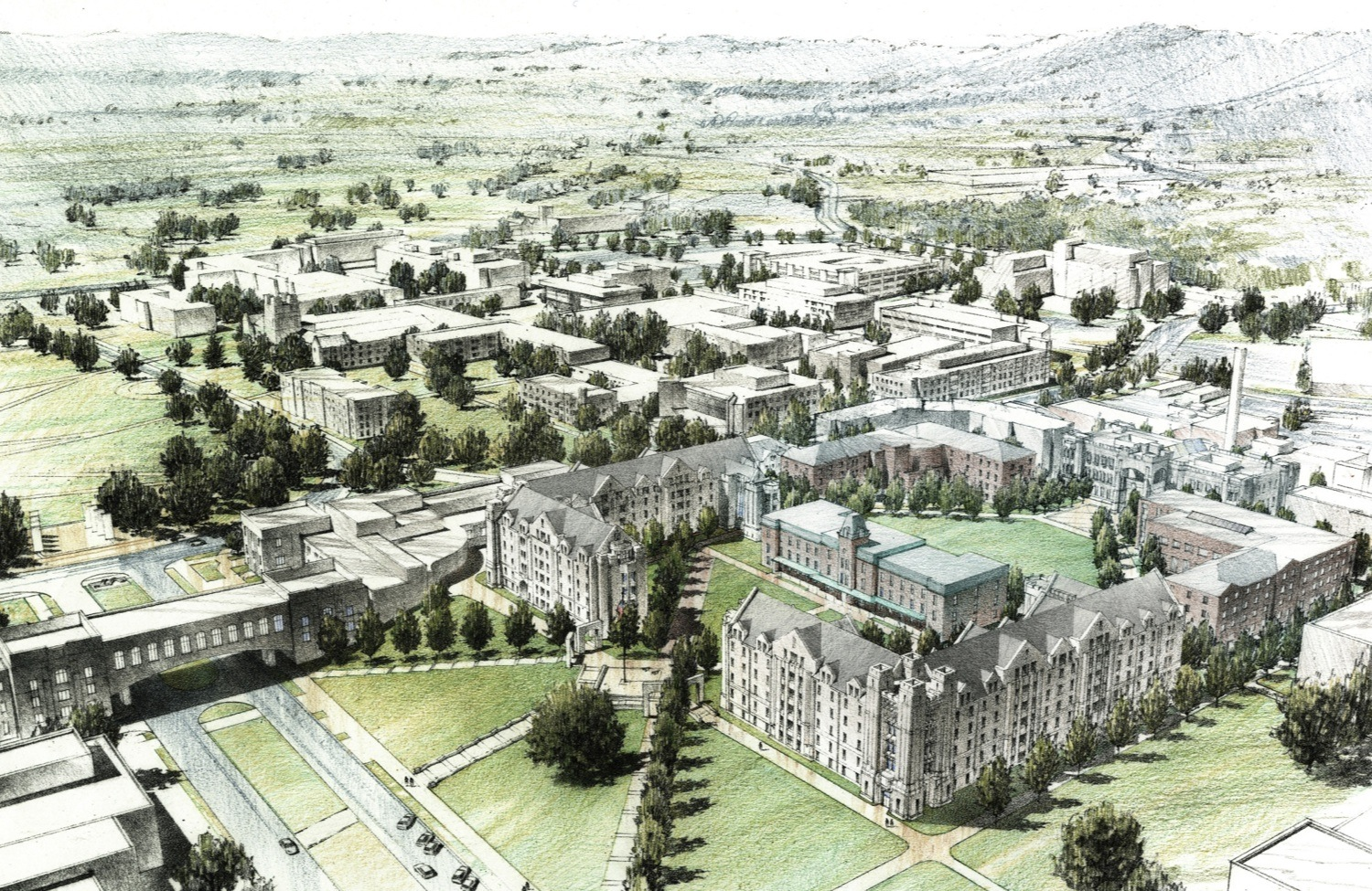 A rendering of the new Upper Quad .