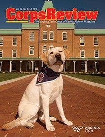 The cover of the Corps Review Fall 2017 edition.