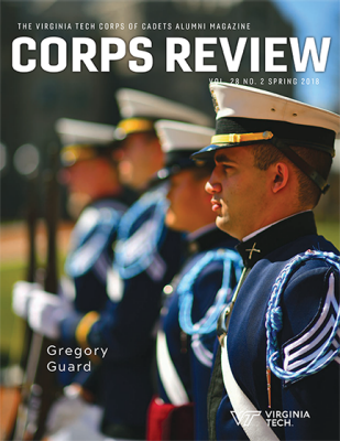 Cover of the Spring 2018 edition of Corps Review