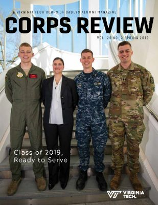 The cover of the Spring 2019 Corps Review