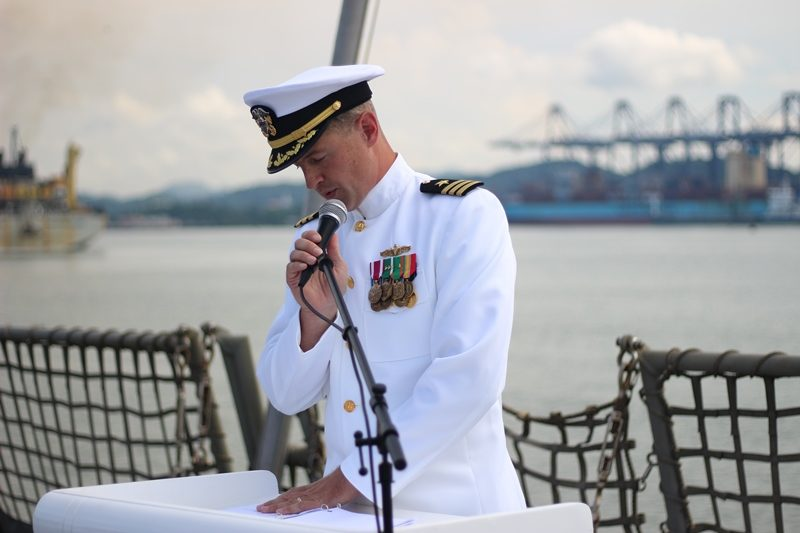 VTCC Alumni Board of Directors member U.S. Navy Cmdr. Jacob Braun '00 took command this summer of the USS Chafee out of Pearl Harbor, Hawaii.
