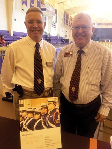 Lt. Col. Dave Williams '79, at left, and Lt. Col. Gary Jackson '78.