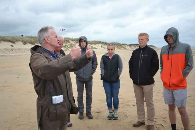 Gordon Rudd '72 explains the D-Day assault on Utah Beach.