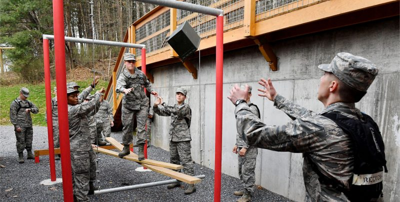 Air Force cadets participated in Leadership, Evaluation, and Development (LEAD) training at Virginia Military Institute