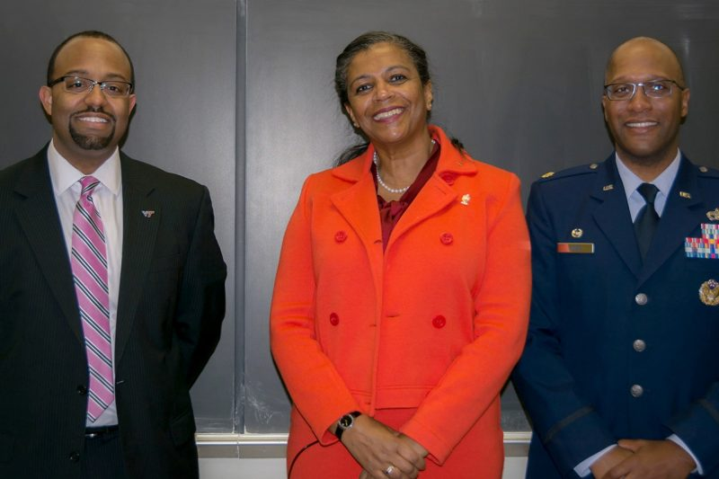 Three alumni returned to campus on Feb. 15 for the Black Corps Alumni Panel.