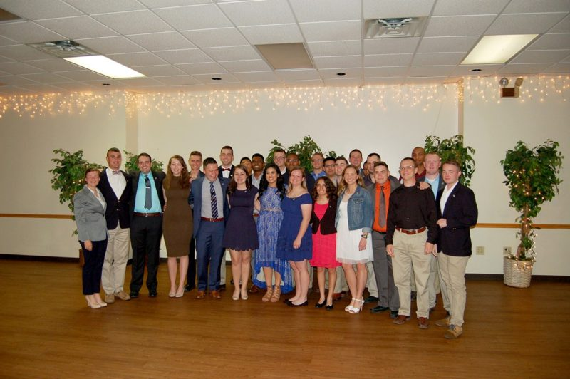 On May 4, the Highty-Tighties' newest alumni from the class of 2017 gathered for a final time before graduation at the annual Highty-Tighty Banquet.