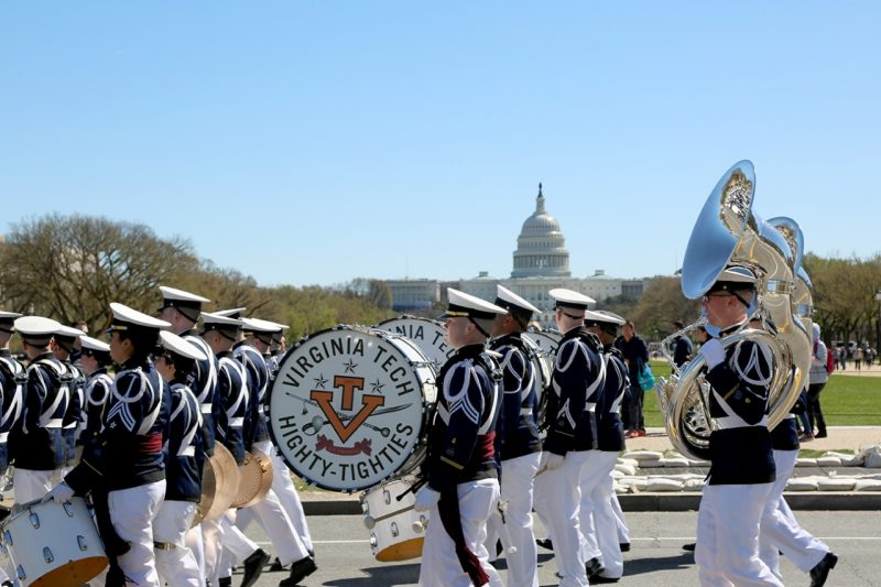 The Highty-Tighties march past the White House.