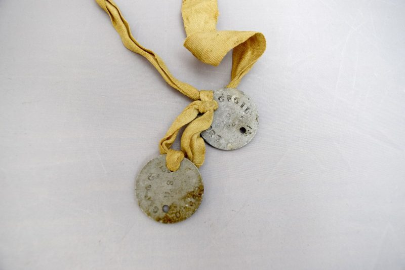 These dog tags were worn by Maj. Gen. Cecil R. Moore '1916 during World War I.