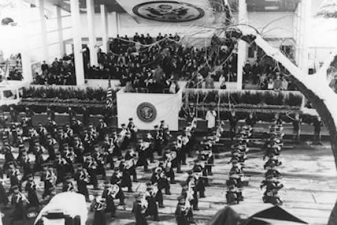 The Highty-Tighties march in a Presidential Inaugural Parade.