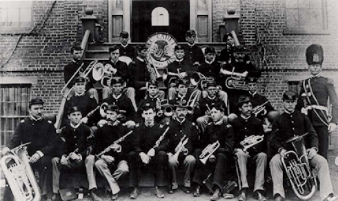 Band Company poses for a picture.